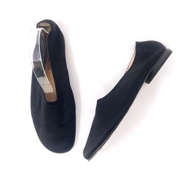 0c218aade705c4 Taryn Rose Shoes | Black Satin Ballet Style Flats | Poshmark